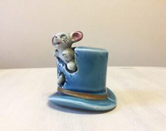 Mouse figurine, vintage mouse, china mouse, novelty mouse, mouse ornament, mouse statue, miniature mouse, ceramic mouse, porcelain mouse