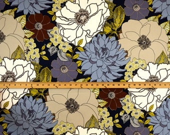 Graphic Floral Print Fabric