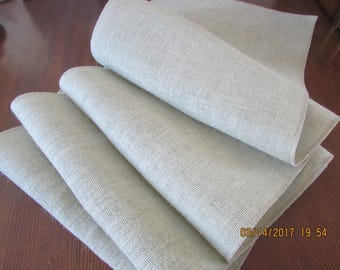 "Sage green/Gray high quality 11oz Burlap Table Runner, 14""x90"""