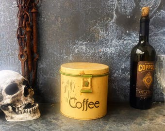 """Coffee Canister / 5.75"""" X 6"""" / 1930's"""