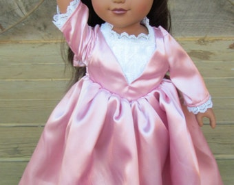 Hamilton Schuyler Sisters Costume American Girl Historical  -Angelica Dress- 18 inch Doll Set