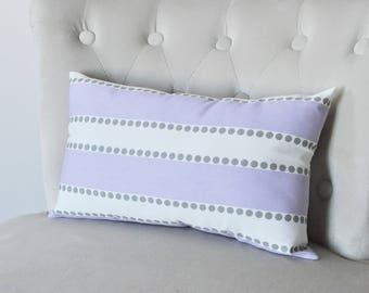 Lavender Lilac Pillow Cover - Stripe Pillow Cover - Throw Pillow Cover - Lulu Lilac Stripe - Decorative Pillow Cover - Nursery Decor -Lumbar