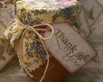 50 Thank You Favor Gift Tags, Wedding Bridal Shower Favor Label Tags, Vintage Style