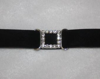 """Set of 5 silver metal rhinestone slide slider sliders belt buckles 1"""" x 1/2"""" h87"""