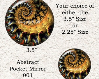 Abstract Pocket Mirror Your Choice Of 4 Different Prints Buy 3 Mirrors Get 1 Mirror Free  613