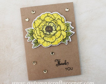 Thanks - Thank You - Homemade Card