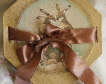 Paper Mache Box - Easter Bunny Design...
