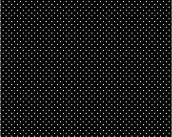 SALE Riley Blake Swiss Dot Black Cotton Fabric FREE SHIPPING