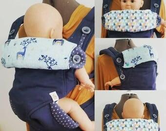 PDF Pattern: Ergo 360 size Baby Carrier Bib - Reversible Bib/Headrest Cover Drool Cover Topper