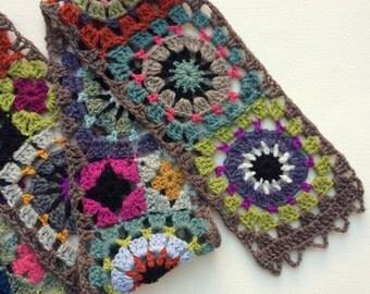 Folk City Granny Square Wool Scarf