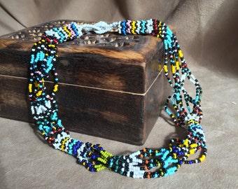 Vintage Necklace Boho, Ethnic Look