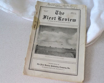 Antique 1919 The Fleet Review Journal of the Enlisted Men of the Navy