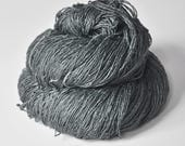 Set in stone OOAK - Tussah Silk Fingering Yarn