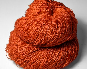 Red-hot metal - Tussah Silk Fingering Yarn - LSOH