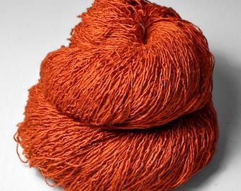 Red-hot metal - Tussah Silk Fingering Yarn - LSOH