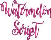 Watermelon Script Embroidery Machine Monogram Alphabet Font Set Instant Download Includes BX Files