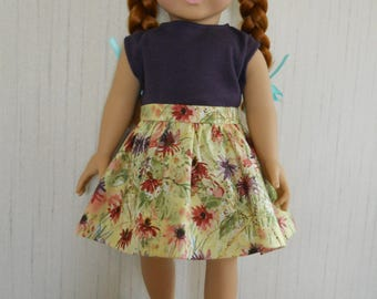 "18"" Doll 2 Piece Outfit Skirt, Top, fits American Girl Type Dolls"