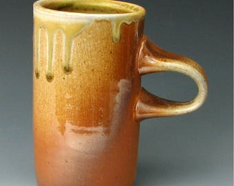 WOOD FIRED MUG #30 - Wood Fired Coffee Mug - Stoneware Mug - Ceramic Mug - Pottery Mug - Tea Mug - Wood Fired Pottery