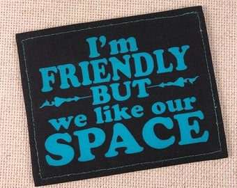 I need Space Friendly In Training Patch Hook and Loop Harness Patch Velcro Ready to Ship Sale