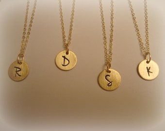 Gold Initial Necklace with Cable Chain
