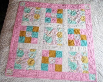 Princess Bunny Baby or Crib Quilt