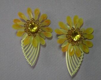 Sunburst Flower Earrings