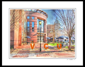 Richmond VA Virginia - VCU - Shafer Court - RVA - Virginia  Commonwealth University - Fan District - Art Photography Prints by Dave Lynch