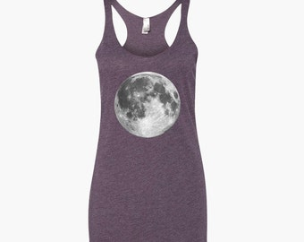 Full Moon Tank Top Yoga Shirt - Moon Phase Shirt - Boho Geometry Mandala Gift Shirt - Yoga Top Yoga Clothes - Yoga Graphic Tee Yoga Apparel