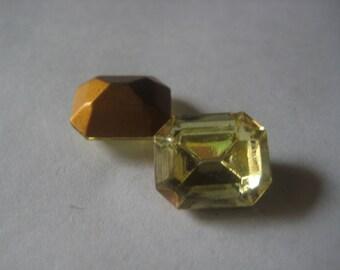 12x10 mm Swarovski Jonquil Yellow Crystal Rhinestone Octagon Qty 57