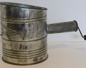 Vintage Metal Flour Sifter by Bromwell