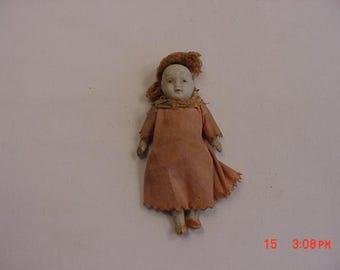 Antique Miniature Porcelain Doll  17 - 495