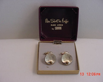 Vintage Swank New Slant On Cuff Links Set In Original Gift Box  17 - 601