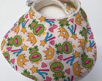 Bib, Classic Style Dribble  frog princess