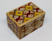Japanese Puzzle box (Himitsu bako)- 1.7inch(43mm) Open by 4steps Yosegi