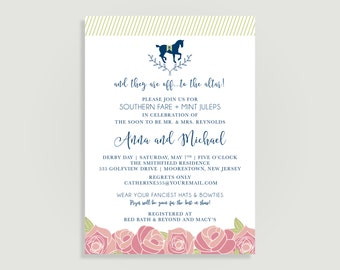 Kentucky Derby Bridal Shower Invitation - Run for the Roses - Personalized Printable File or Print Package Available - #00160-PIA7
