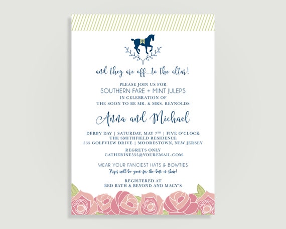Kentucky derby bridal shower invitation run for the roses il570xn filmwisefo