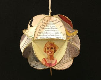 The Sound Of Music Album Cover Ornament Made Of Repurposed Record Jackets