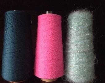 Saori yarn wool cone lot