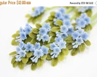 Bunch of Blue Forget Me Not with leaves, 1.0 USD for each bunch, set of 12 bunches