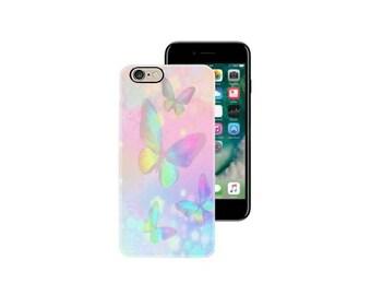iPhone 6 case iphone 6S case iphone 6 plus case iphone 7 case iphone 7 plus case cover mobile phone silicone skin pastel butterfly flower