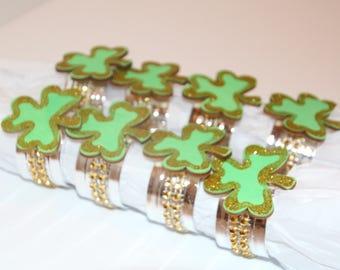 St. Patricks Day Napkin Rings Set of 8
