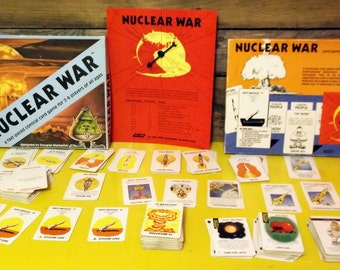 Vintage Game Nuclear War with expansion pack of cards for Nuclear Escalation