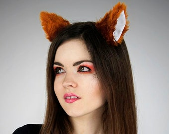 Fox ginger ears white cosplay kawaii anime harajuku sweet nerd petplay