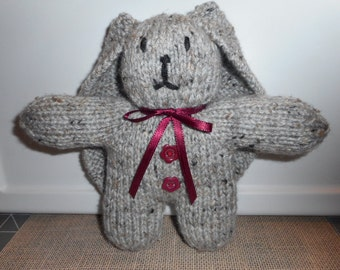 Gray Bunny, Easter Bunny, Luxury Lop Eared Bunny, Child's Easter Basket Toy Bunny