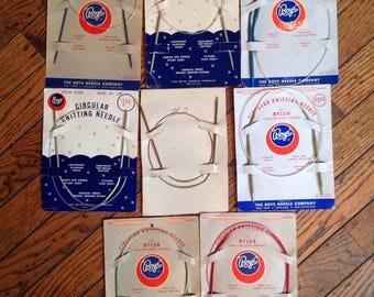 Vintage Lot of 8 Boye Circular Knitting Needles