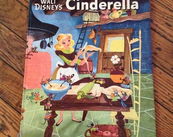 Vintage 1972 A Big Golden Book Cinderella