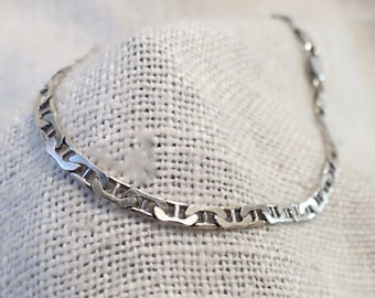 Mariner Link Chain 3mm Sterling Silver Italy Anklet 9.25""