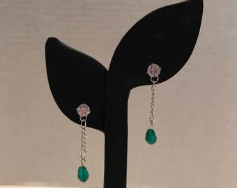 Tealdrop earrings