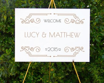 Art deco welcome sign | Printable wedding signage