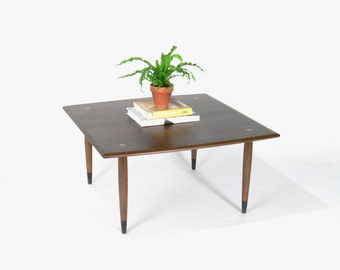 Swedish Modern Dux Walnut Coffee Table